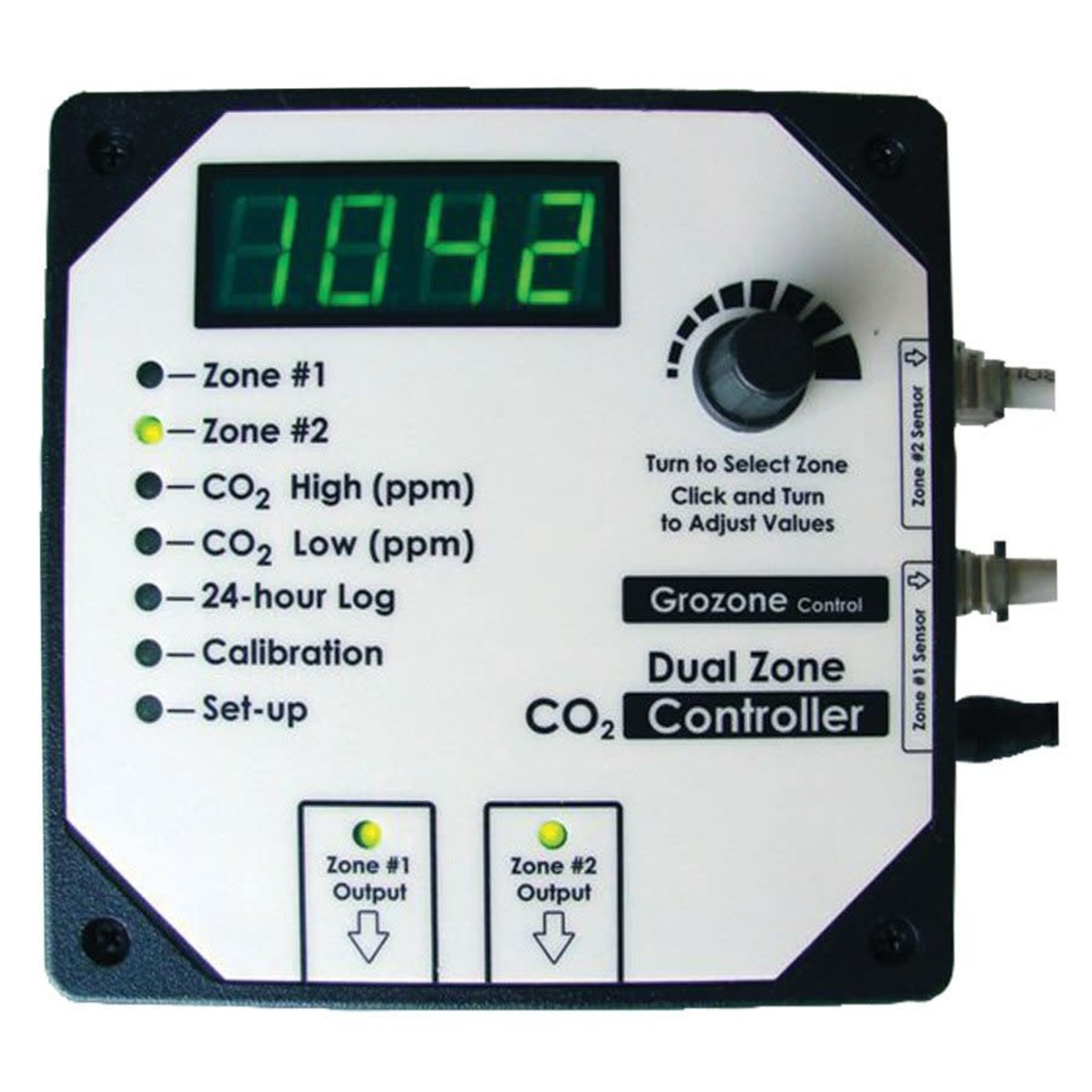 Grozone Controls GROZONE CO2D DUAL ZONE CO2 CONTROLLER 0-5000 PPM