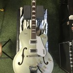 Package Deal!!! USED mint condition Gretsch G5420T ELECTROMATIC®/USED mint condition Gretsch hard case/USED excellent condition leather guitar strap.