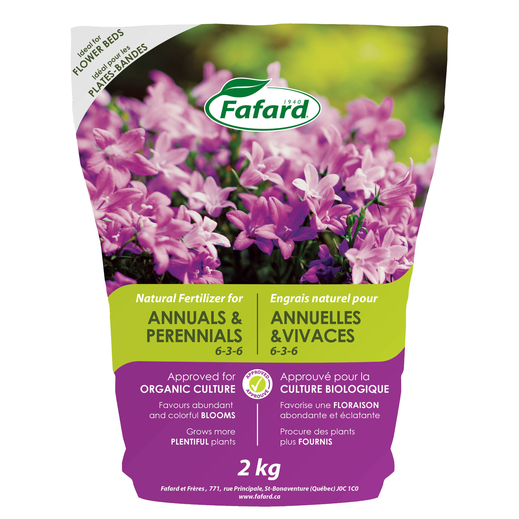 Fafard Natural Fertilizer for Annuals & Perennials 2kg