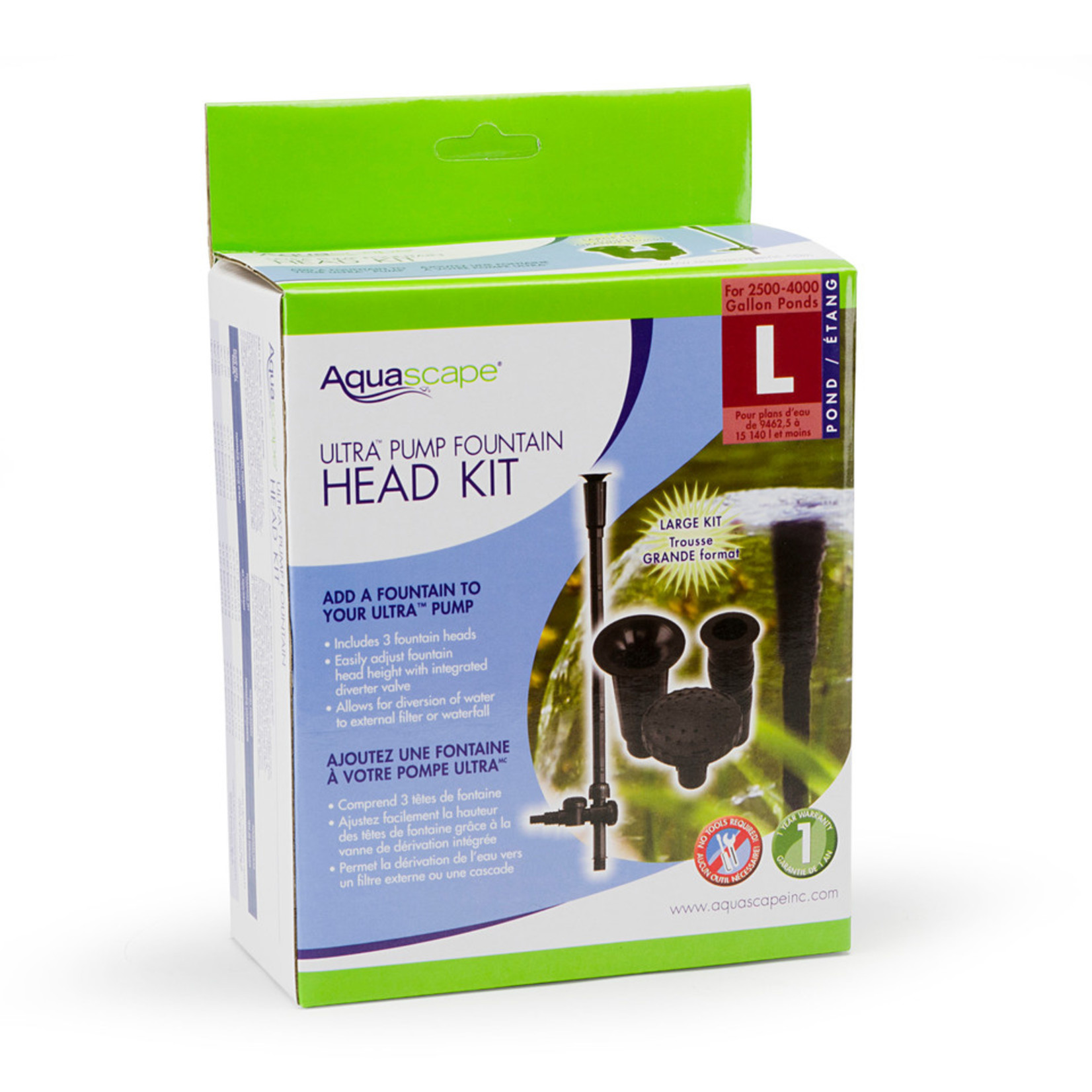 Aquascape Ultra Pump Fountain Head Kit Large