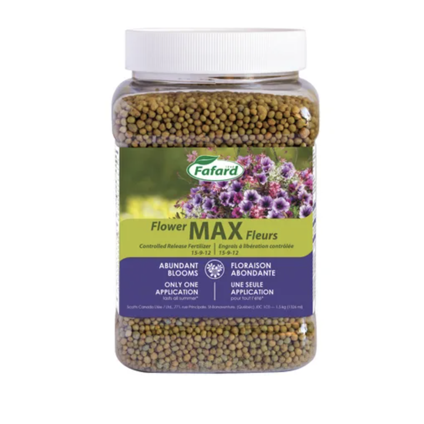Fafard Flower Max Controlled Release Fertilizer (15-9-12) 1.5 KG