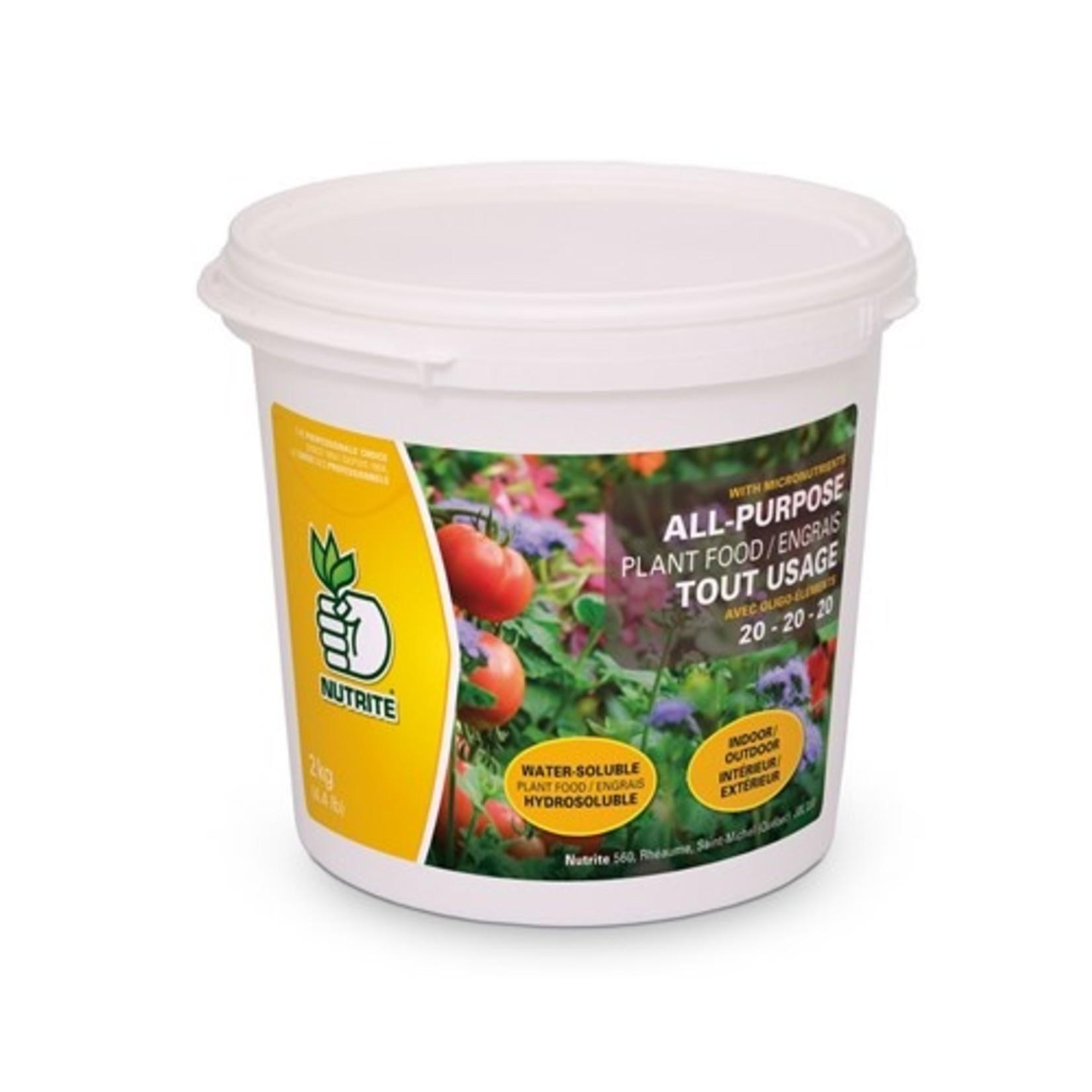 Nutrite Engrais tout usage (20-20-20) 2 KG