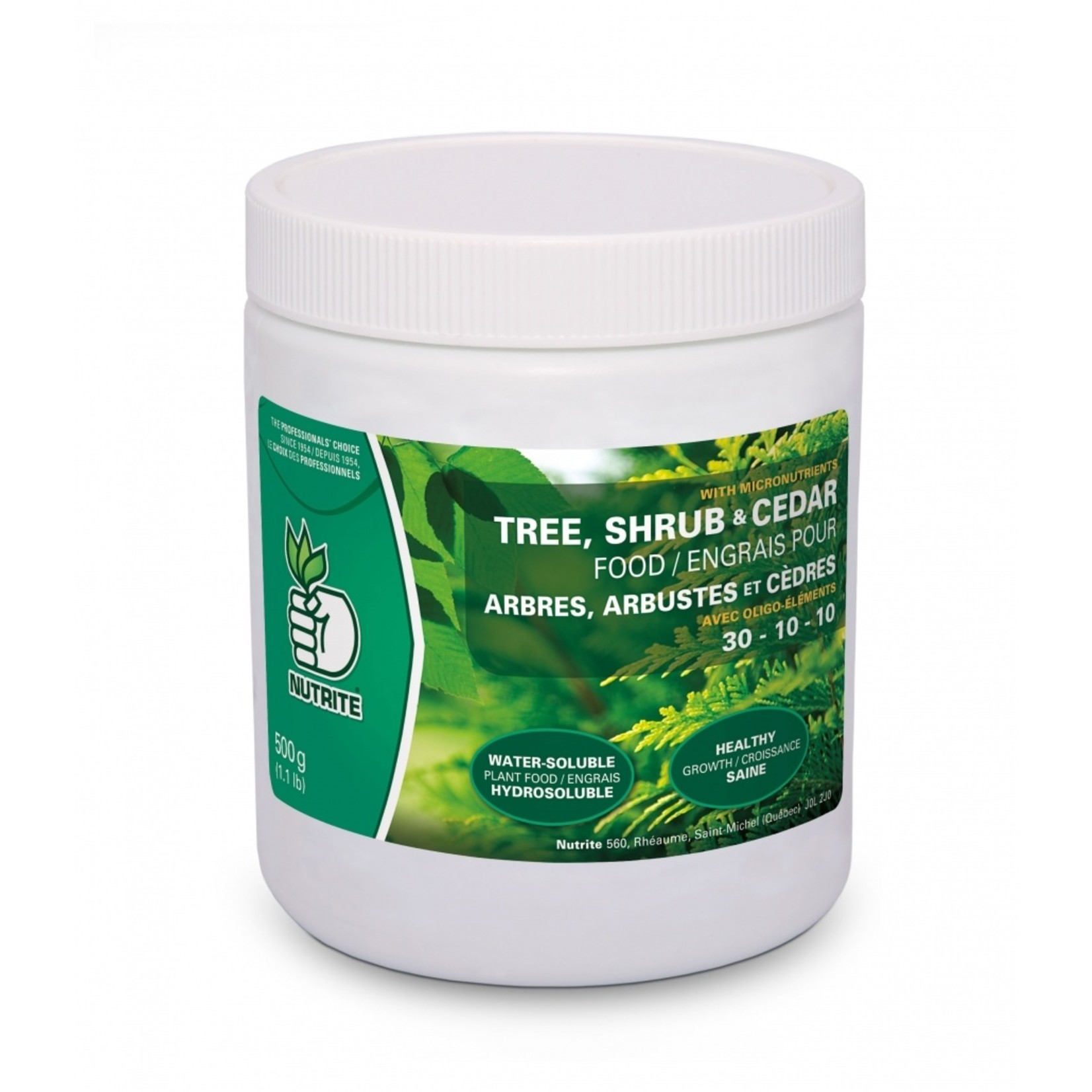Nutrite Tree, Shrub & Cedar Fertilizer (30-10-10) 500g