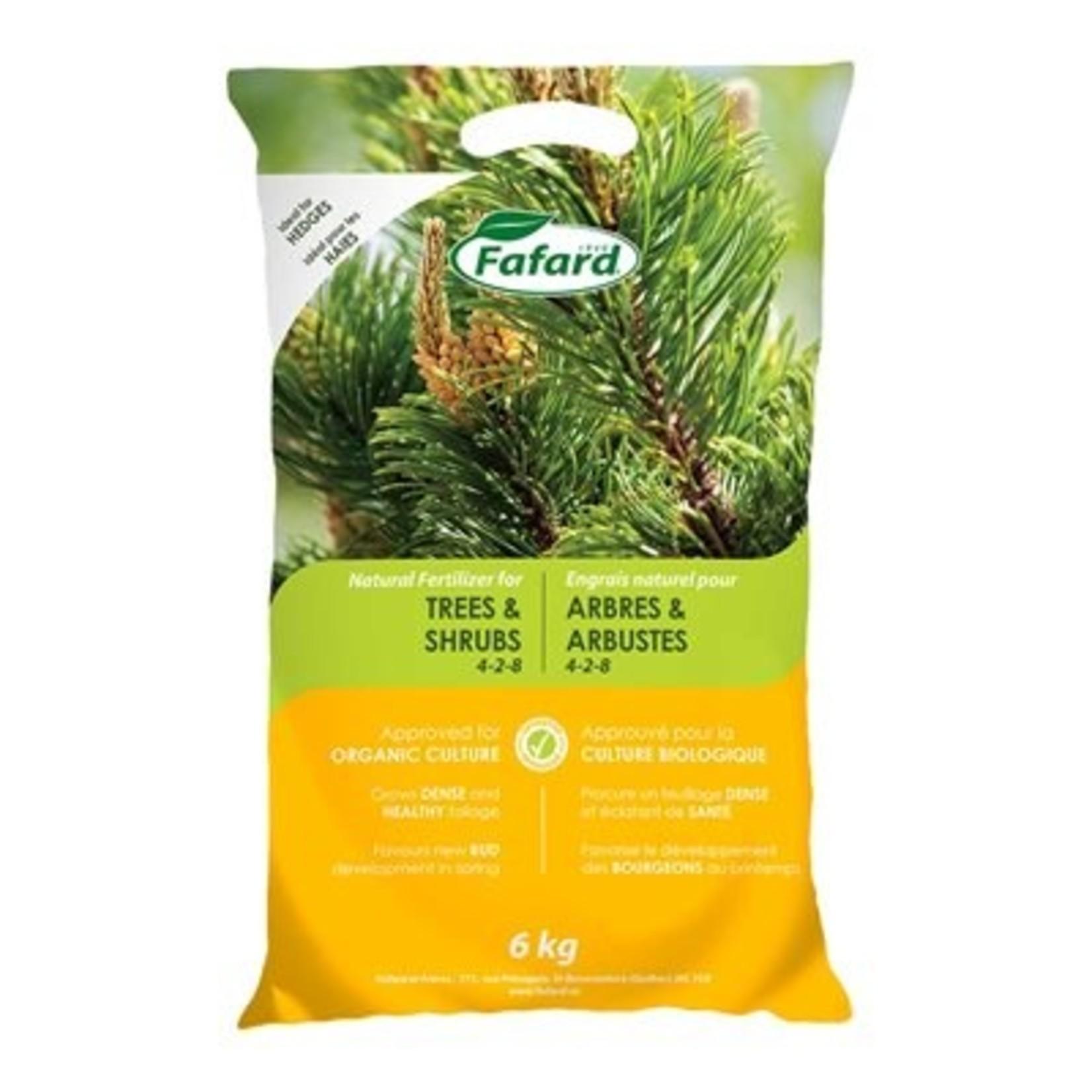 Fafard Engrais naturel Conifères, arbres et arbustes (4-2-8) 6 KG