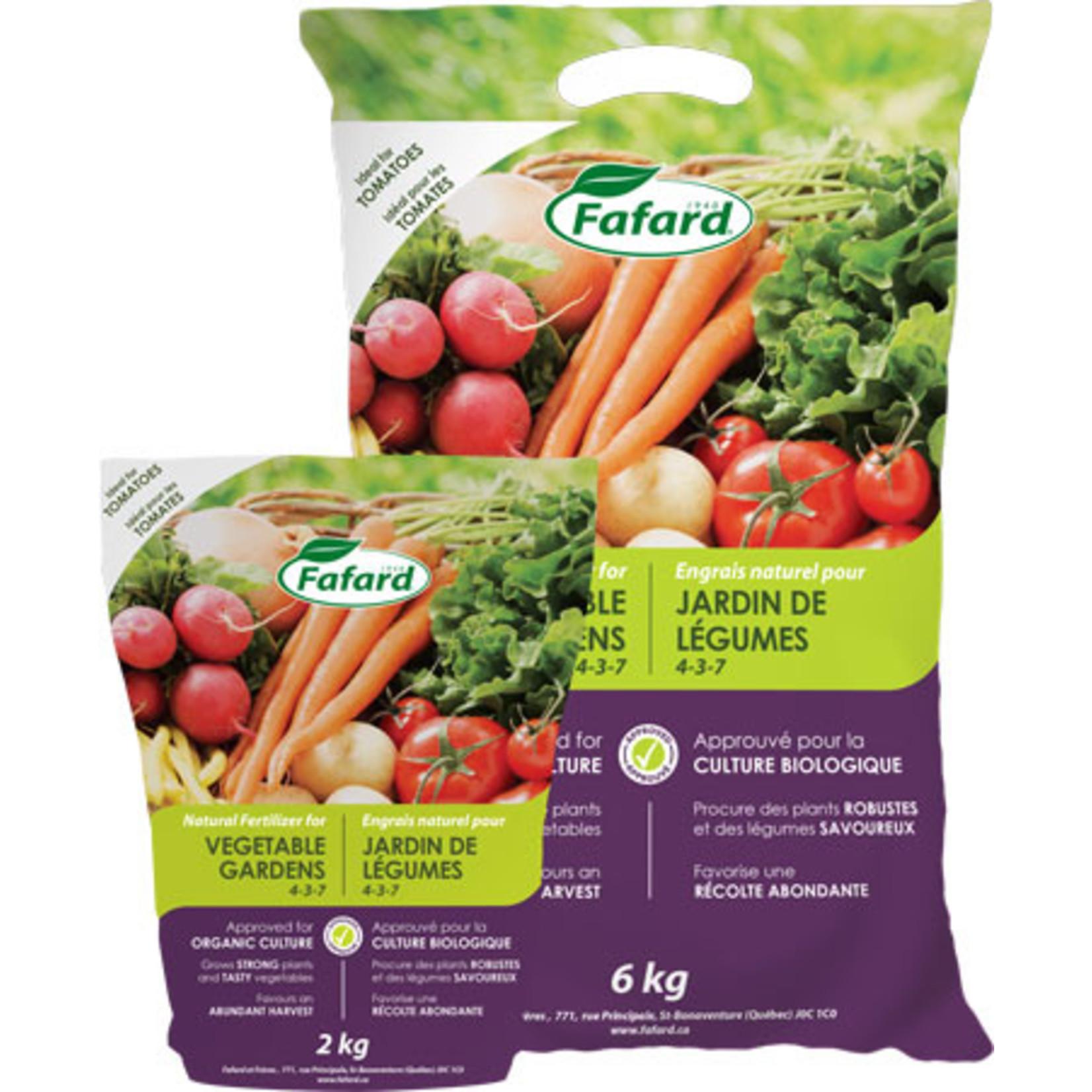 Fafard Natural Fertilizer for Vegetable Gardens (4-3-7) 6 KG