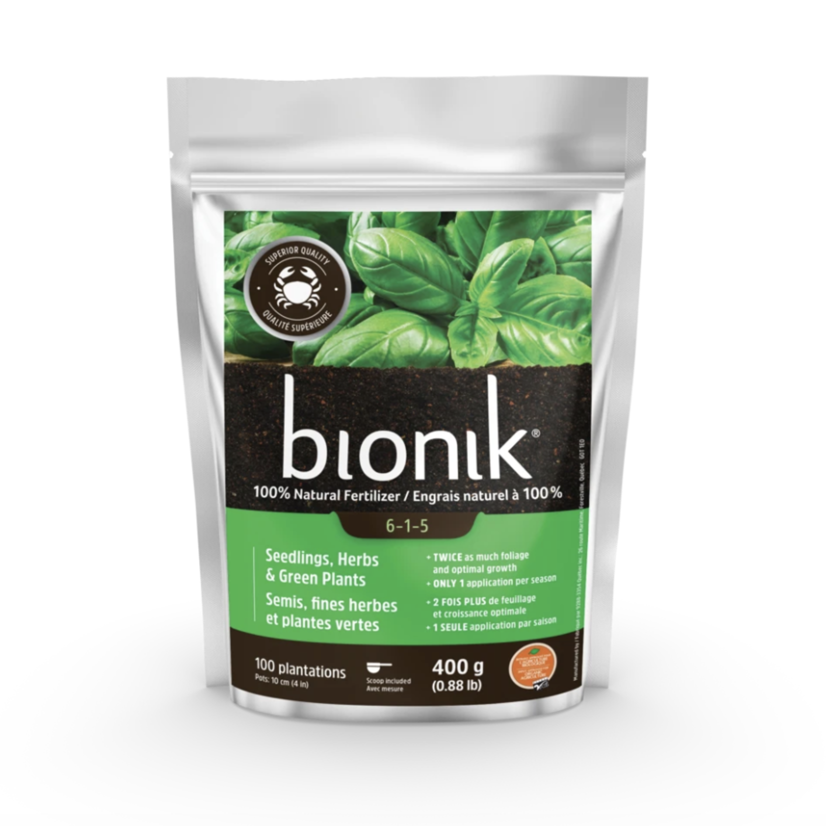 Bionik Semis, fines herbes et plantes vertes 85 g