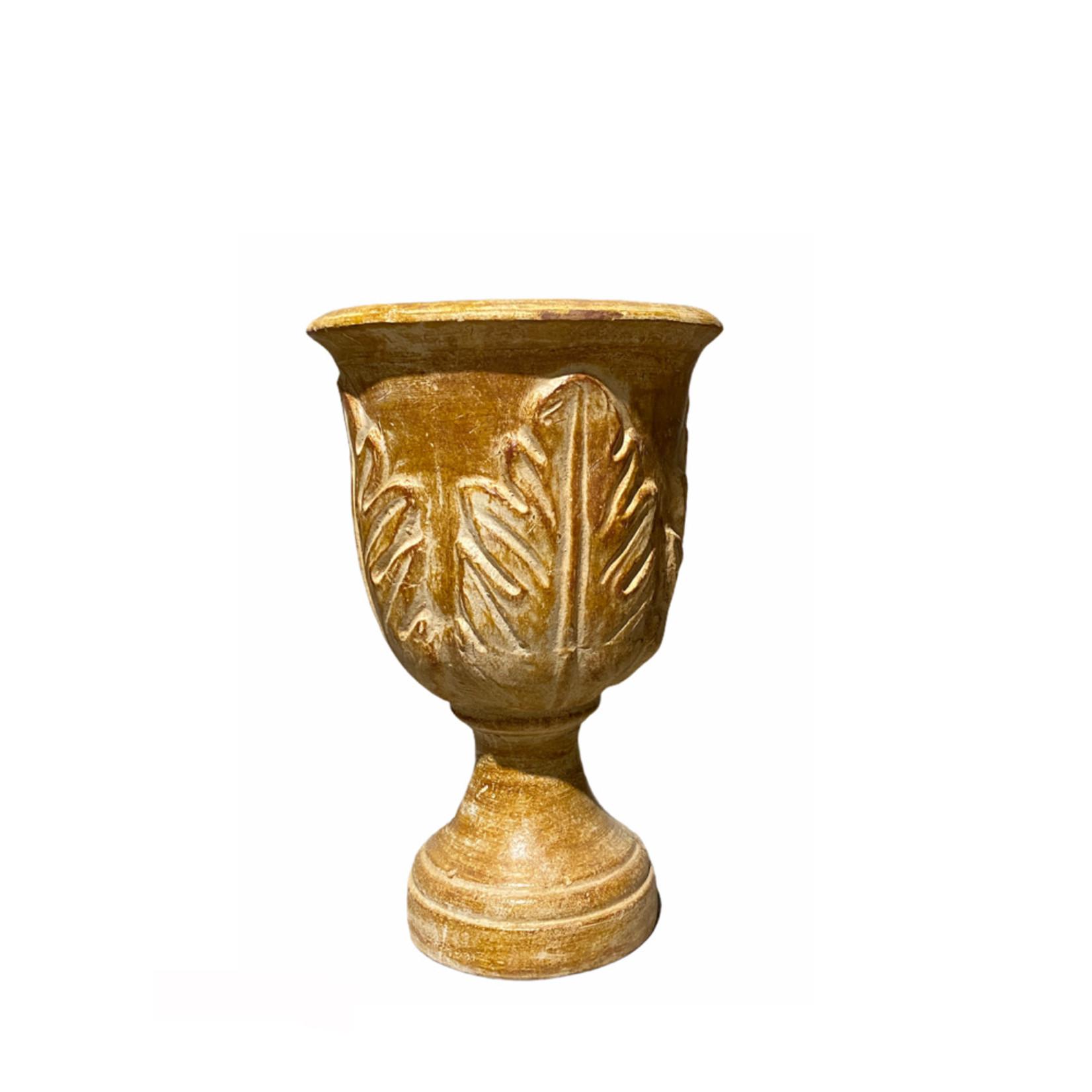 """Mexican Urn Planter Leaf 32"""" X 17"""""""