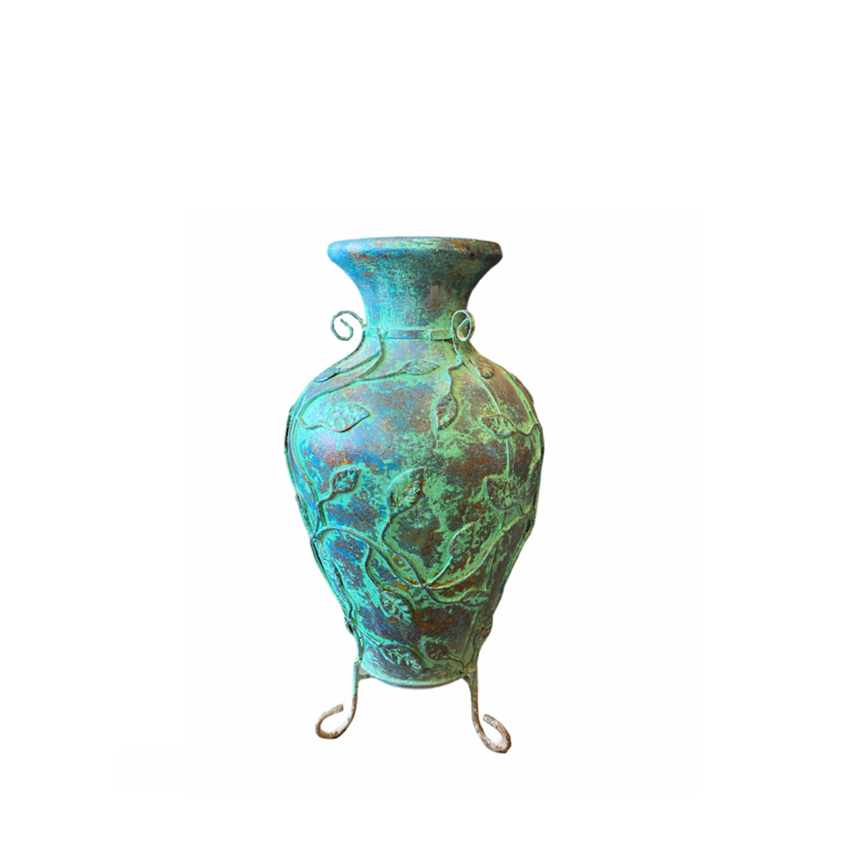 """Mexican Urn Turquoise 28"""" X 13"""""""