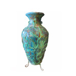 "Mexican Urn Turquoise 36"" X 17"""