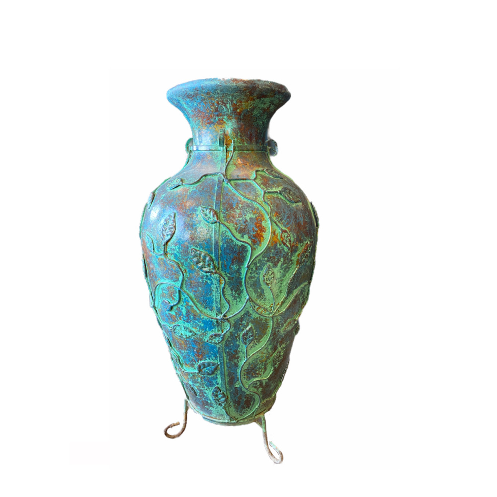 """Mexican Urn Turquoise 36"""" X 17"""""""
