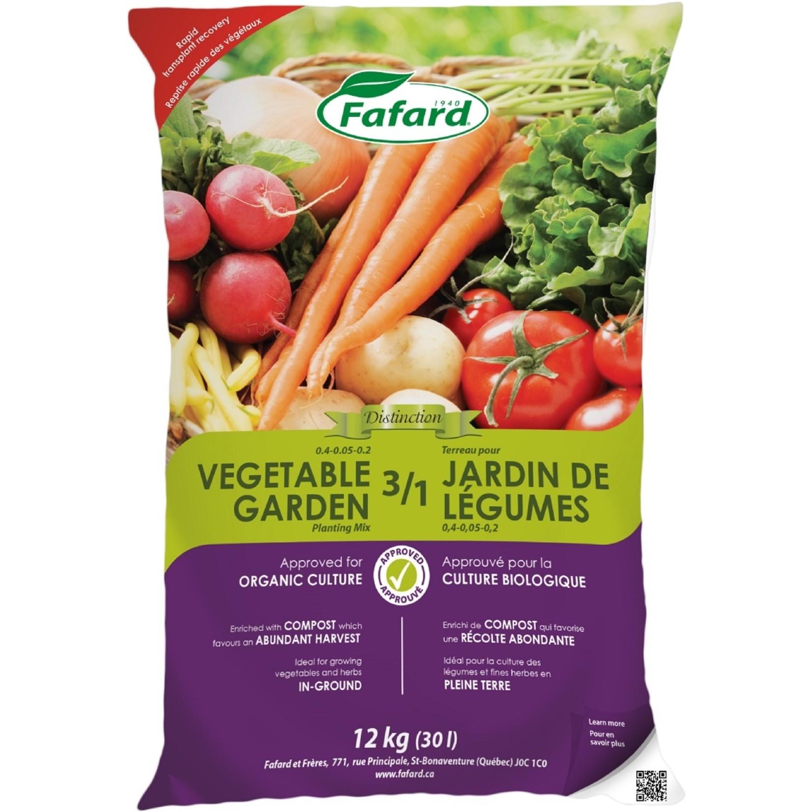 Fafard Terreau 3 /1 pour jardin de légumes  (Bio) 30 L