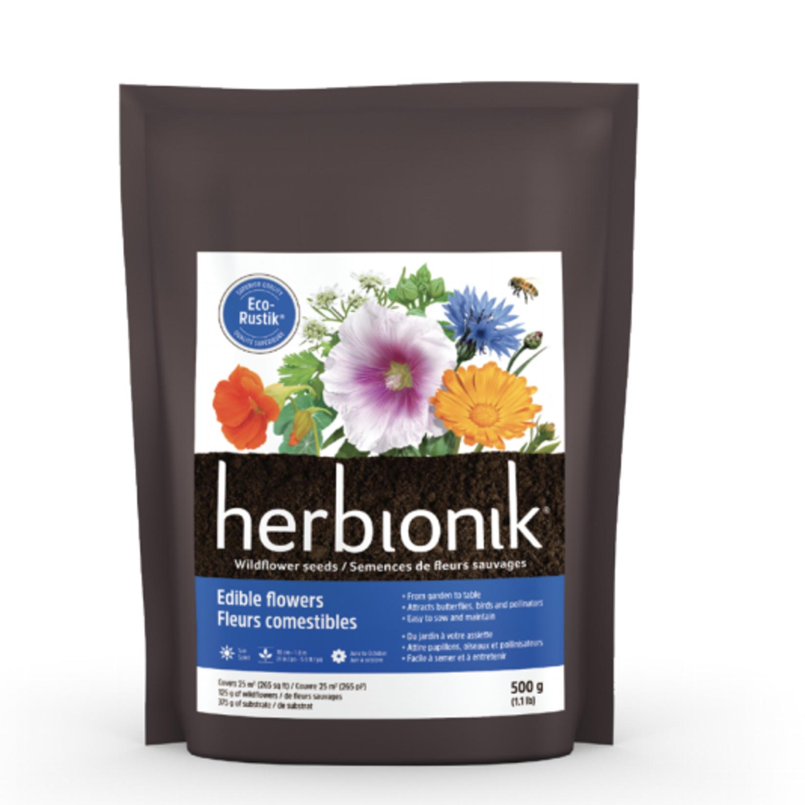 Herbionik Edible Flowers Wildflower Seeds 500g