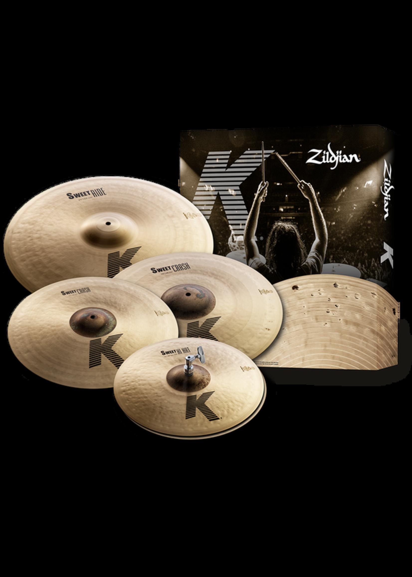 "Zildjian Zildjian K Sweet Box Set 15/17/19/21"" Cymbal Pack"