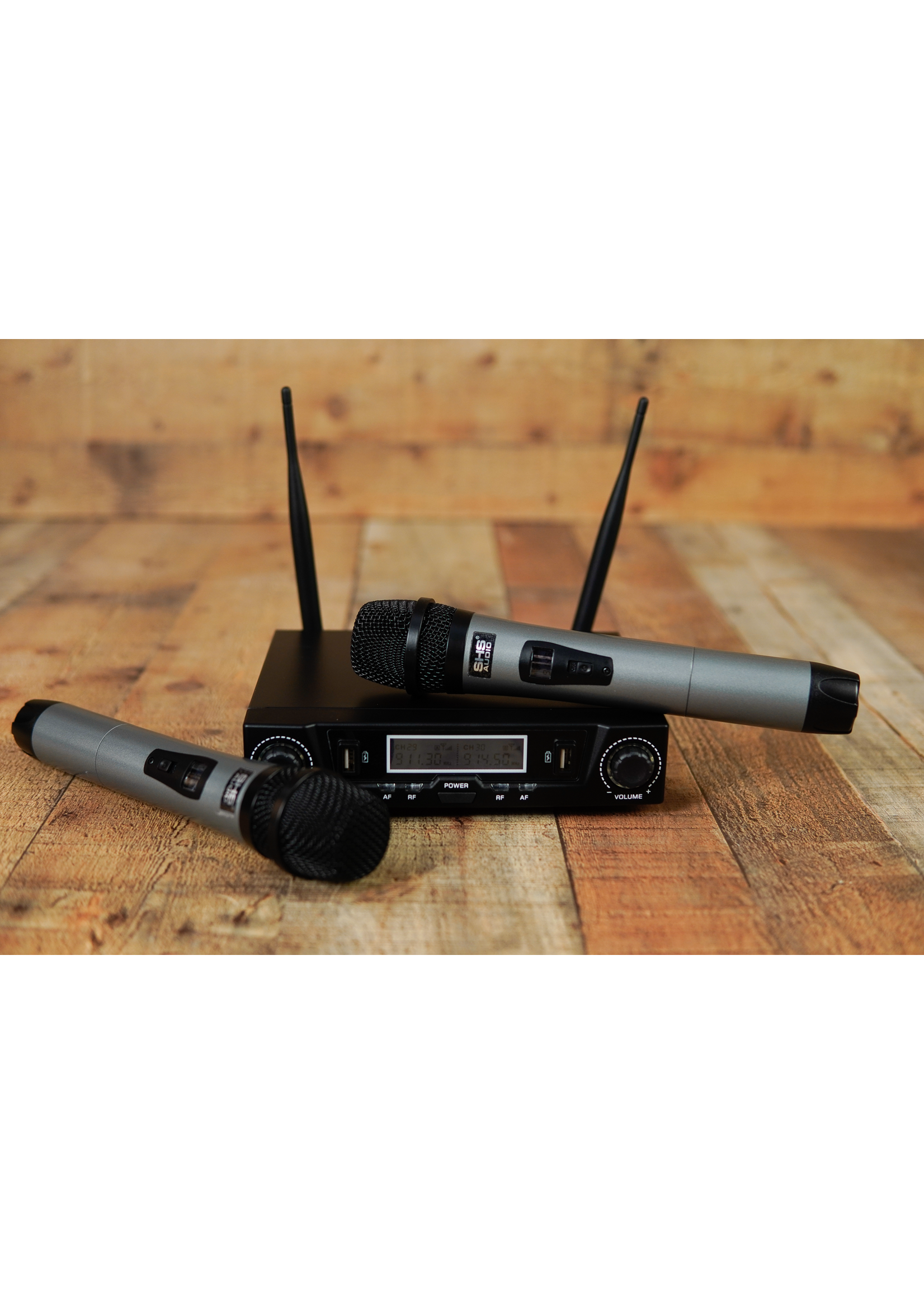 shs SHS Audio Swuh-500 Dual Hand Held Wireless Microphone System
