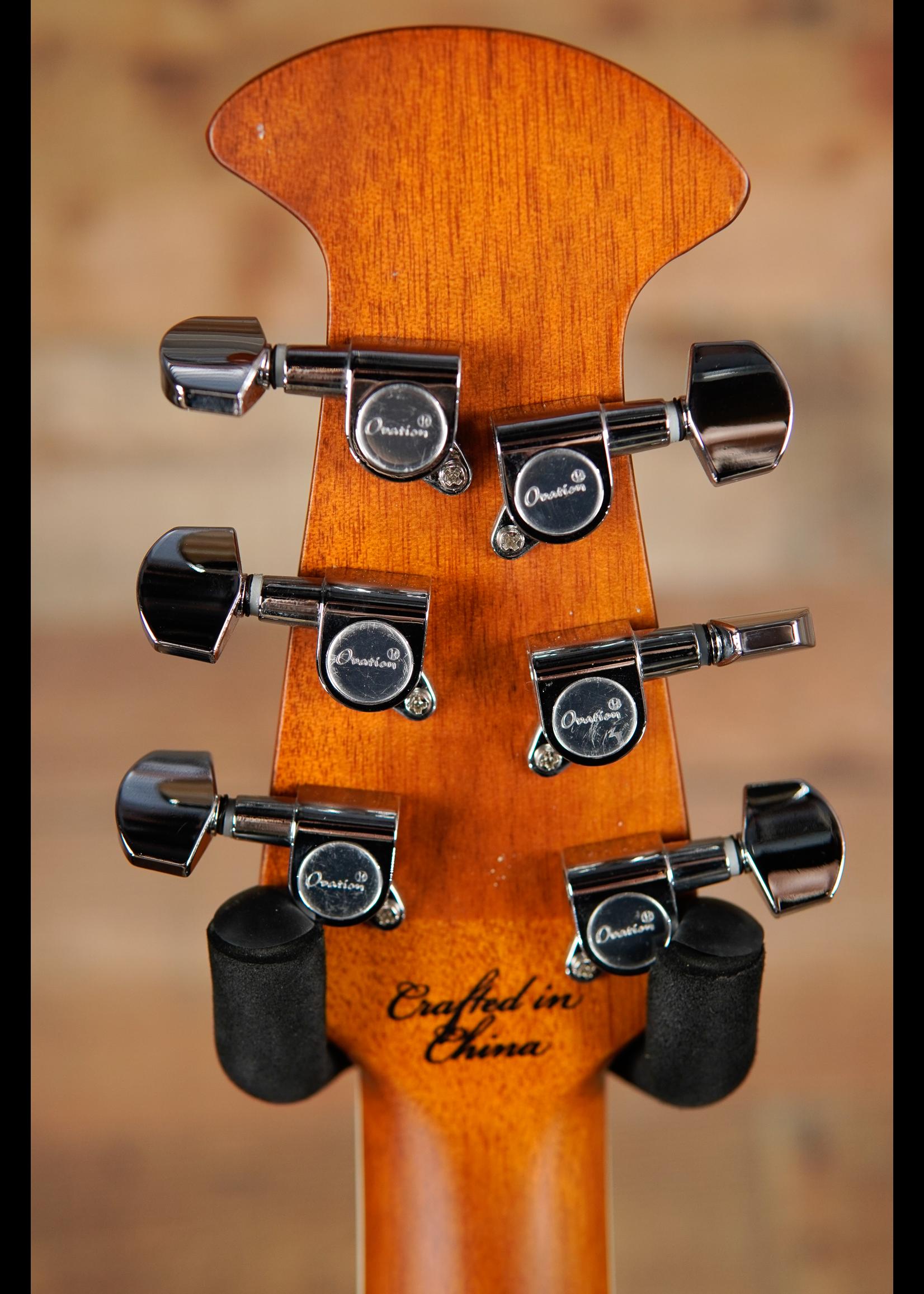 Ovation Ovation Celebrity Standard E-Acoustic Guitar CS24-RR, CS/Cutaway, Ruby Red, Mid-Depth