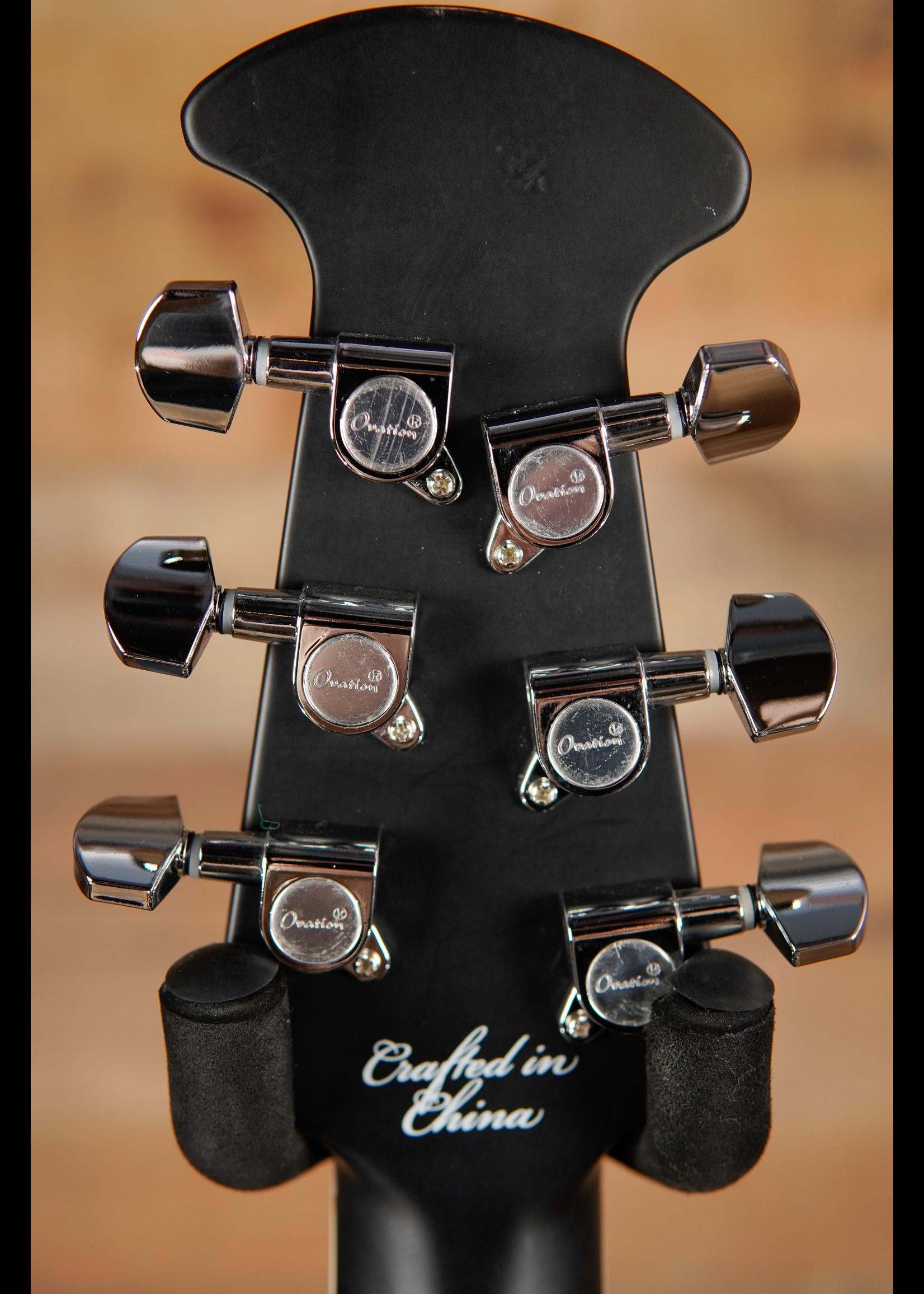 Ovation Ovation Celebrity Standard E-Acoustic Guitar CS24-5, CS/Cutaway, Black,Mid-Depth