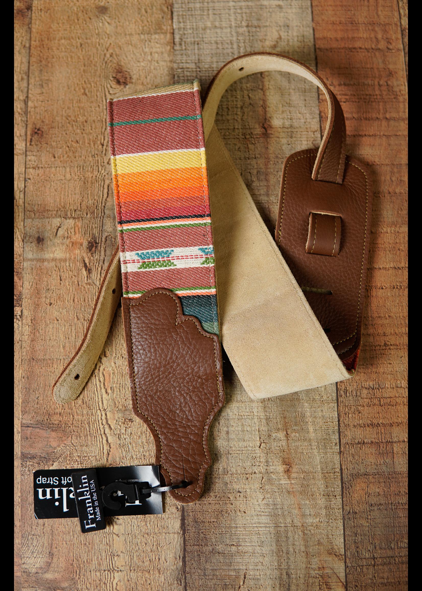 """franklin Franklin 3"""" Saddle Blanket/Suede/Caramel Leather End Tab"""