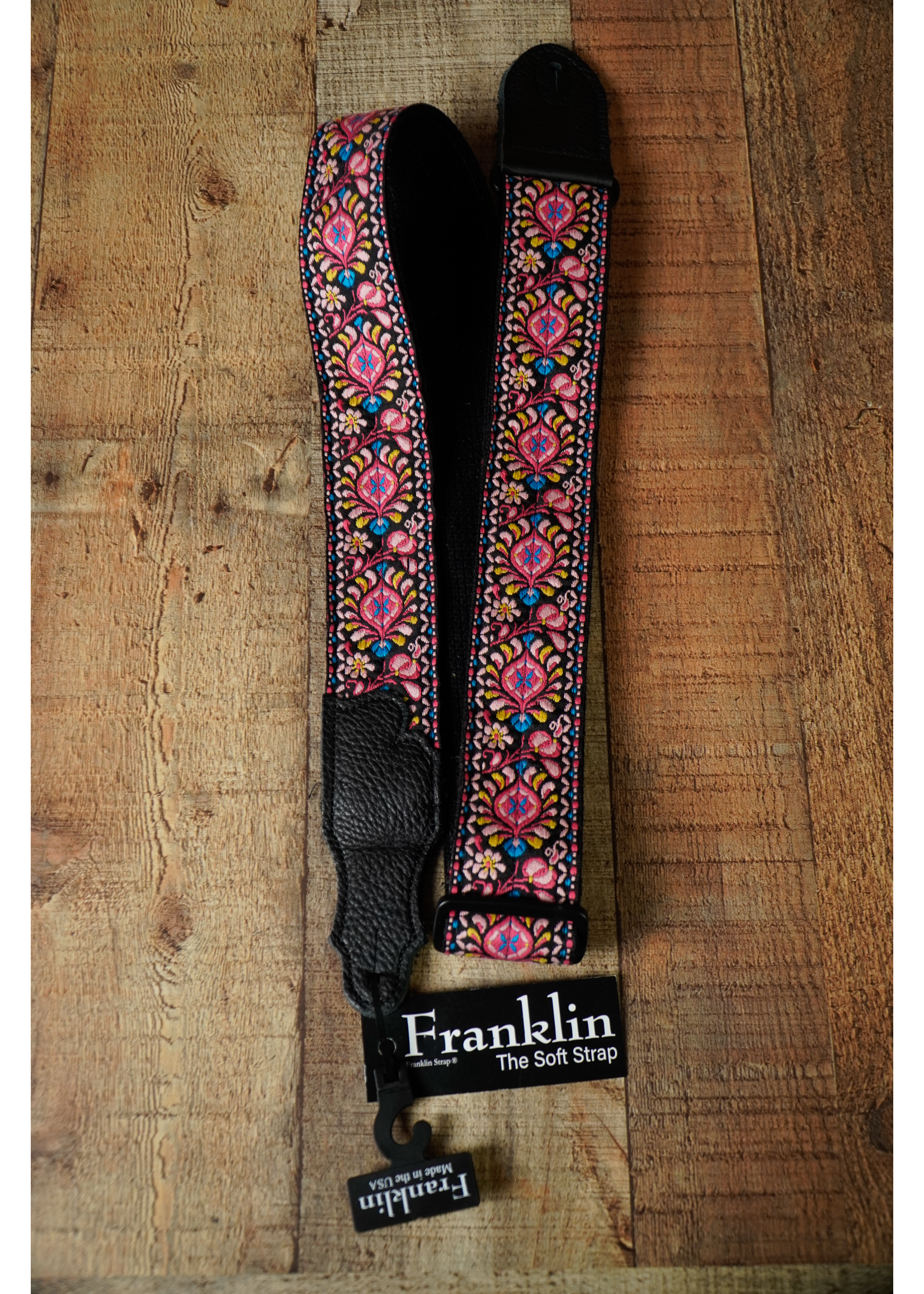 """franklin Franklin 2"""" Retro Woven Cotton w/Backing/Glove Leather end Pink"""