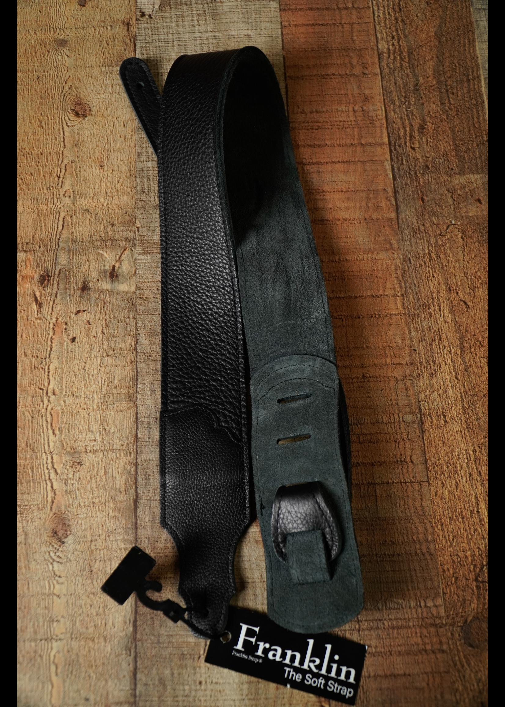 "franklin Franklin 2.5"" Black Glove Leather/Black Stitching"