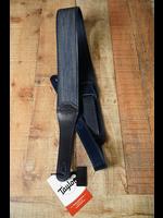 """Taylor Taylor Blue Denim Strap,Navy Leather Edges,2.5"""" Embossed Logo"""