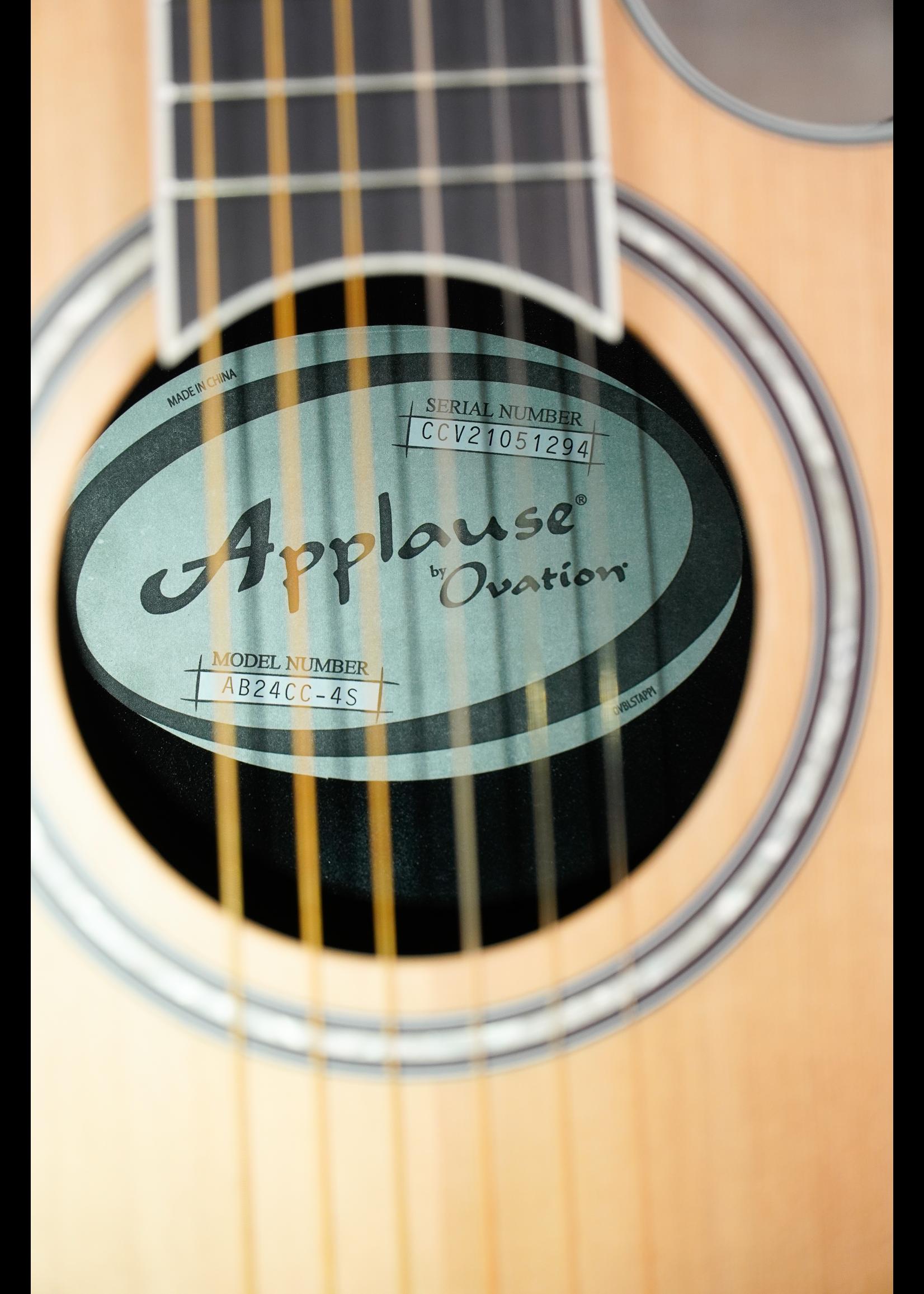 Applause E-Acoustic Classical AB24CC-4S, Satin Cedar Mid-Depth