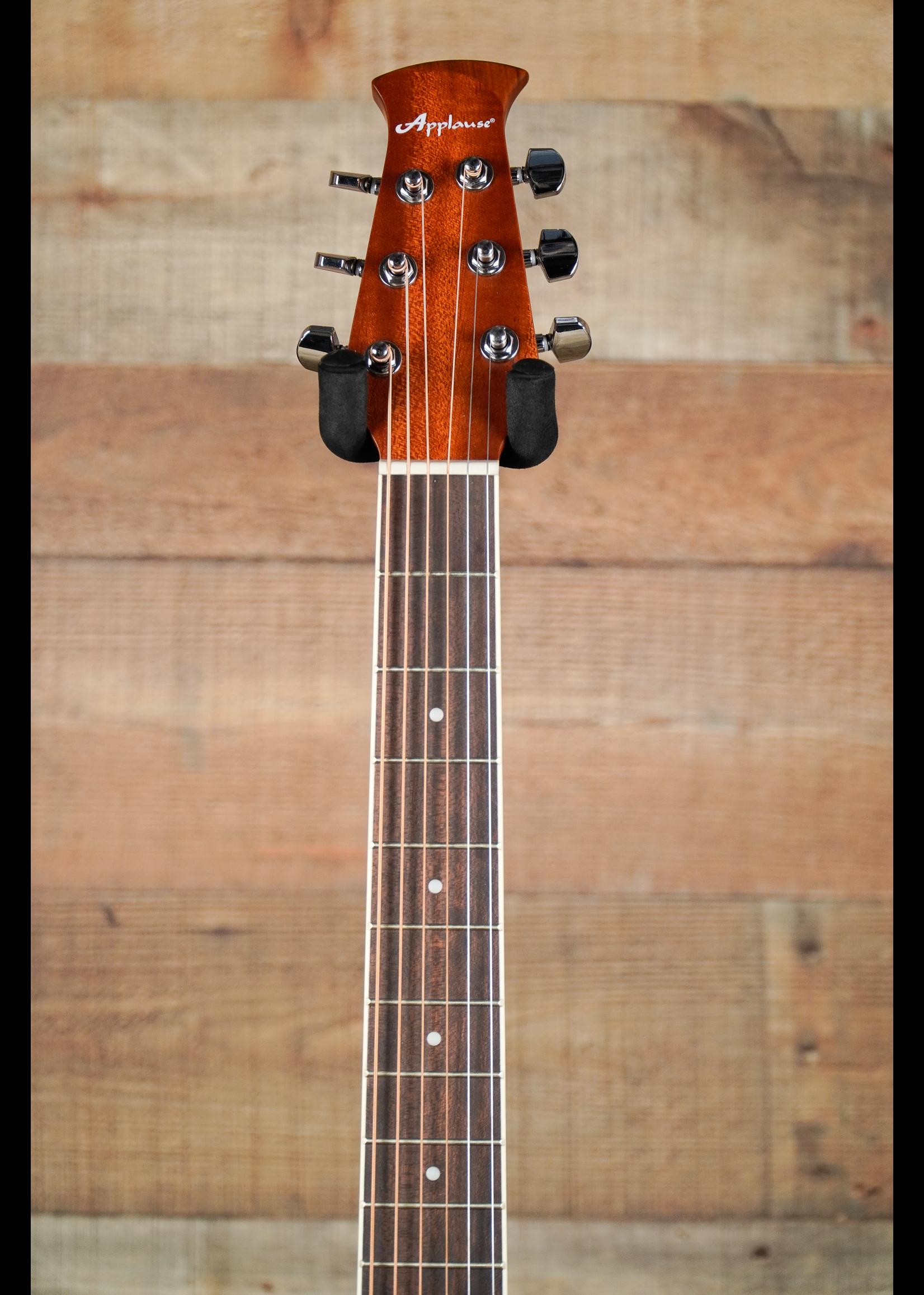 Applause Applause E-Acoustic Guitar AB24-5S, CS,  Cutaway, Black Satin Mid-Depth