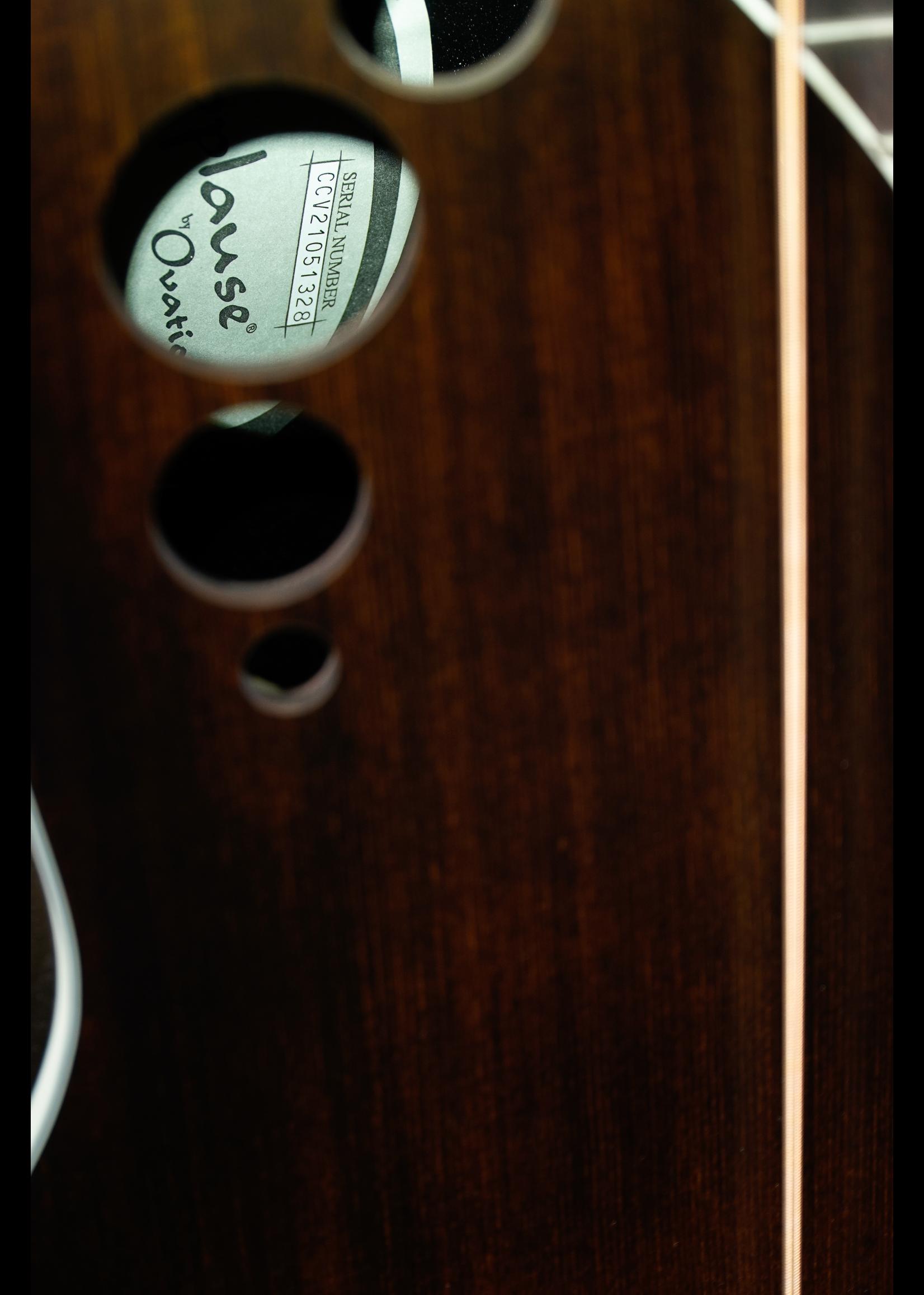 Applause Applause E-Acoustic Bass AEB4-7S, MS,  Cutaway, Honeyburst Satin Mid-Depth