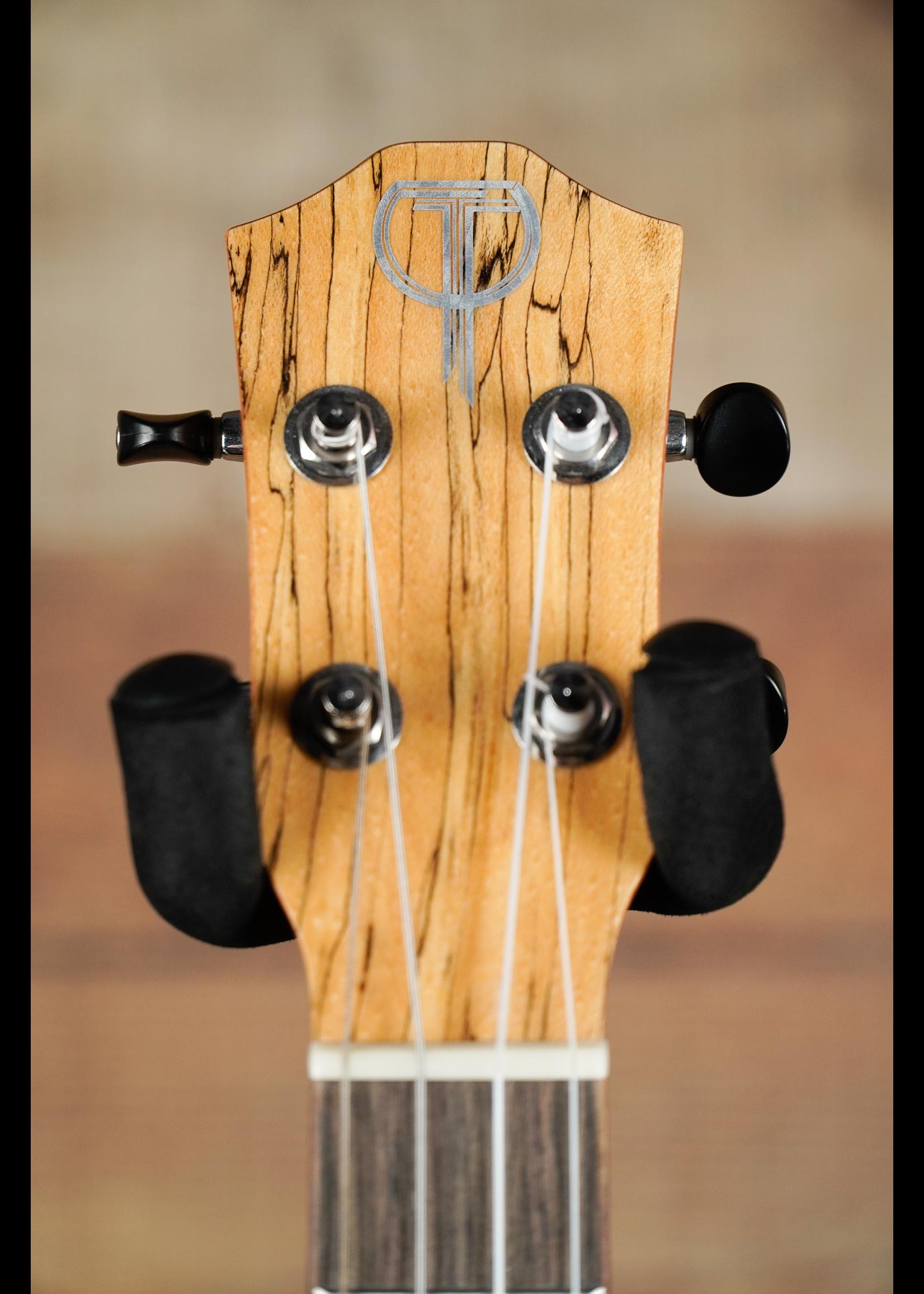 Teton Teton  TB130SMG Baritone Ukulele   Natural/ Splatted Maple Back & Sides