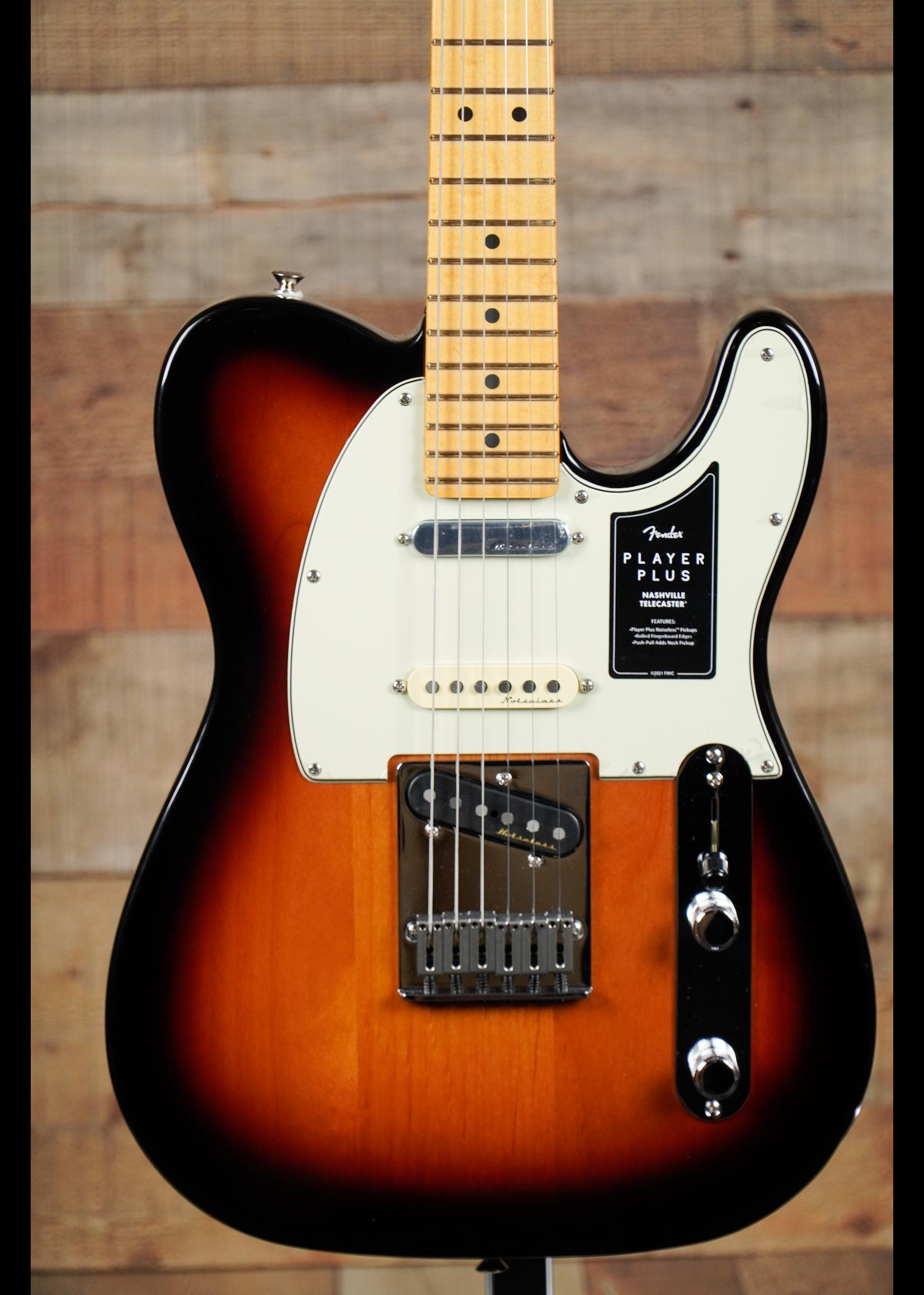 Fender Fender Player Plus Nashville Telecaster®, Maple Fingerboard, 3-Color Sunburst