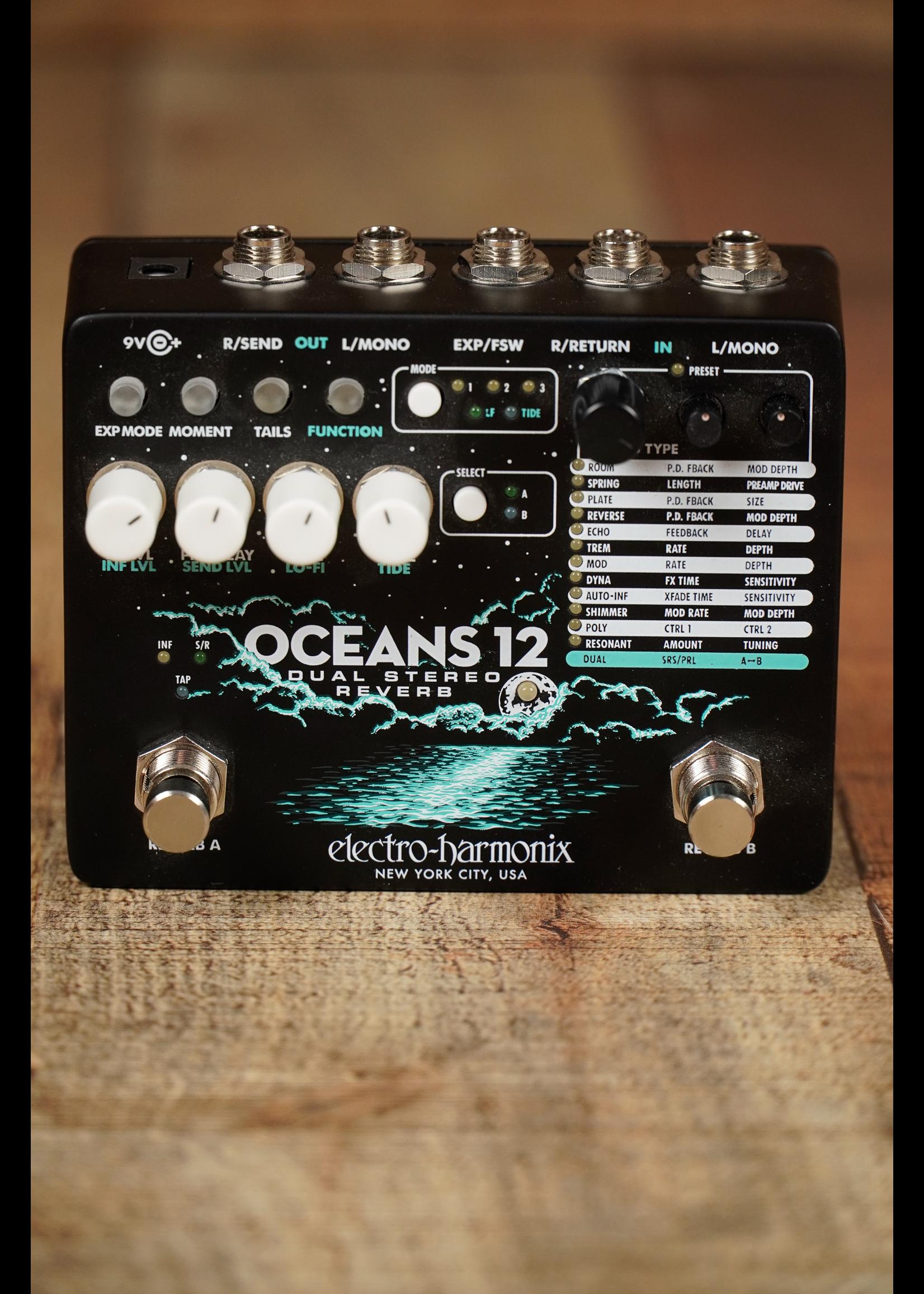 Electro-Harmonix Electro-Harmonix OCEANS 12 Dual Stereo Reverb, 9.6DC-200 PSU included