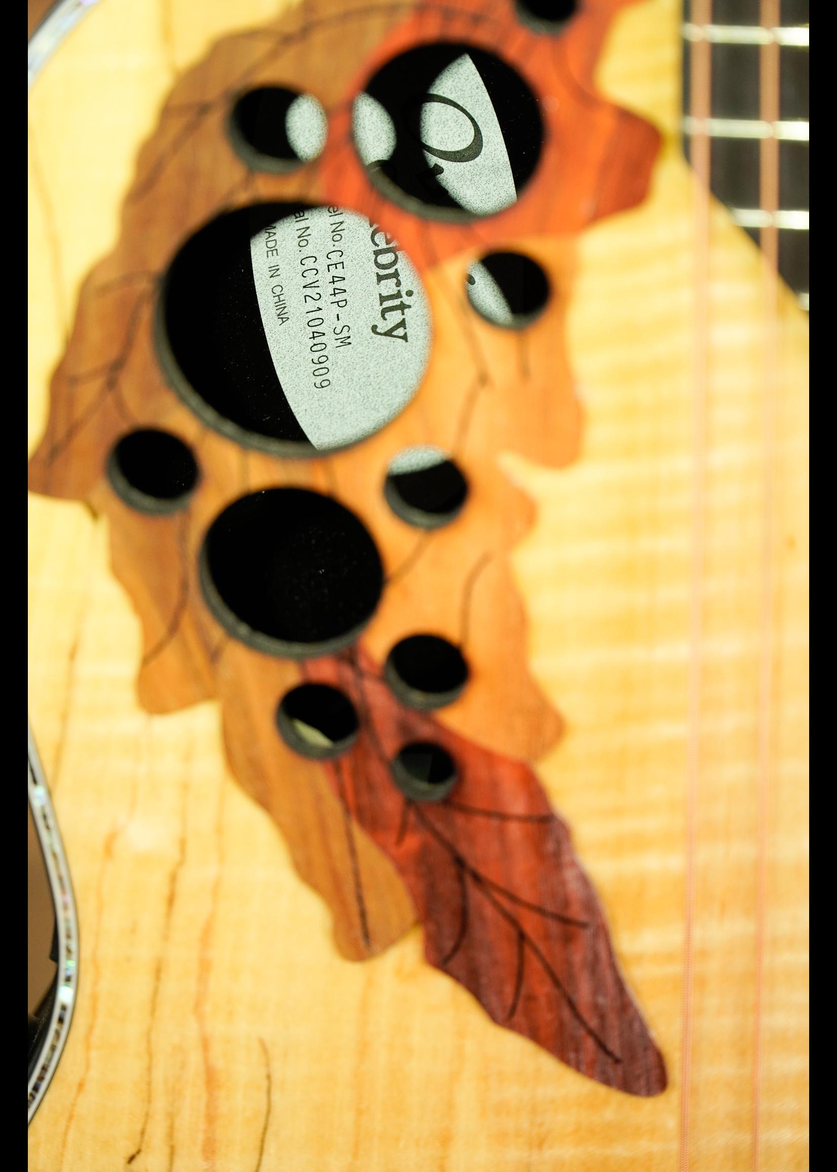 Ovation Ovation Celebrity Elite Plus CE44P-Spalted Maple Mid-Depth