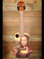 Amahi Amahi Art Series, Mahogany Top, Back & Sides, Painted, Mona Lisa