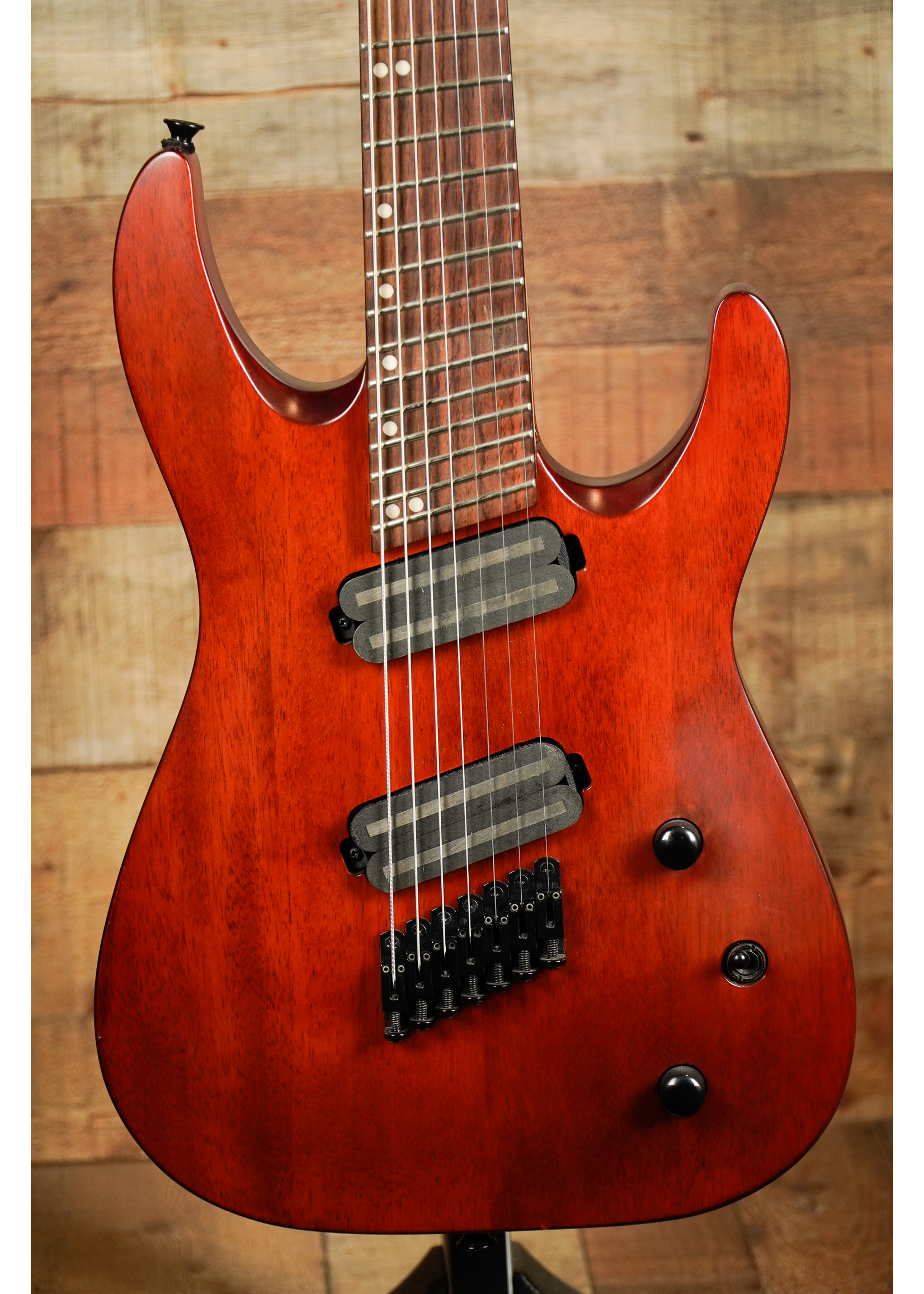 Jackson Jackson X Series Dinky™ Arch Top DKAF7 MS, Rosewood Fingerboard, Multi-Scale, Stained Mahogany *USED*