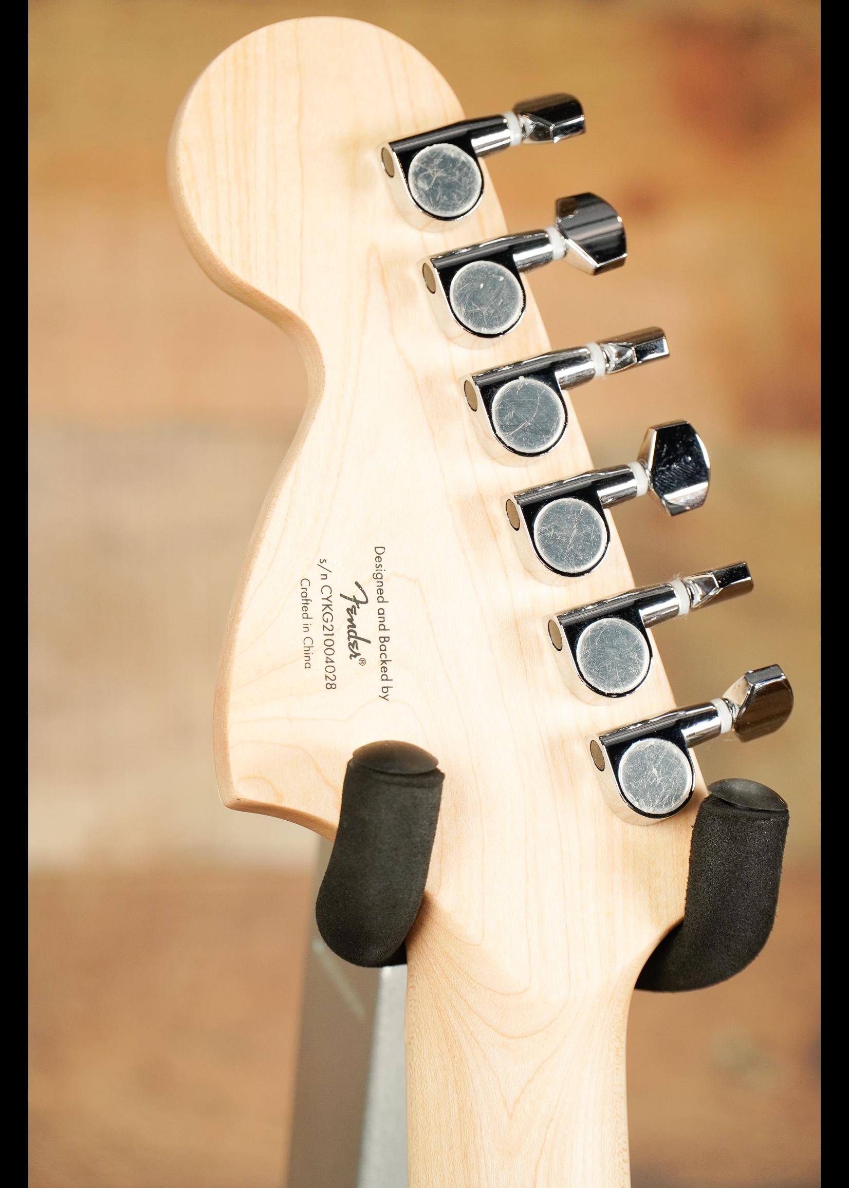 Squier Fender Affinity Series™ Stratocaster® FMT HSS, Maple Fingerboard, White Pickguard, Sienna Sunburst