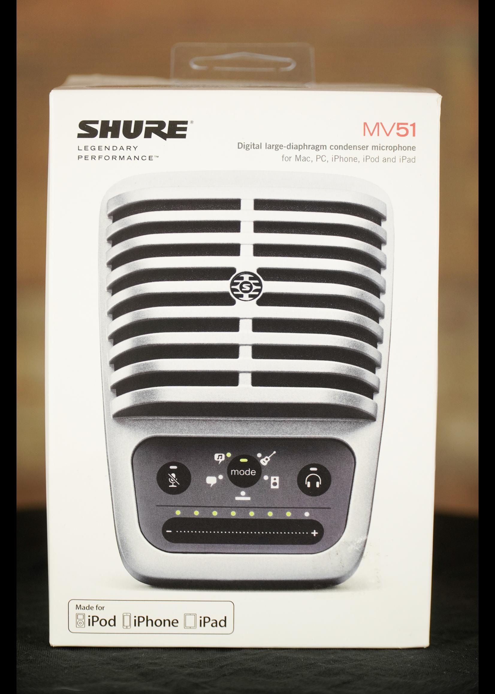 Shure Shure MOTIV MV51 iOS / USB Large Diaphragm Condenser Microphone