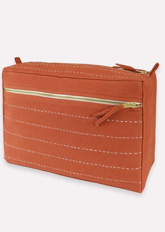 Anchal Large Pin-Stitch Toiletry Bag