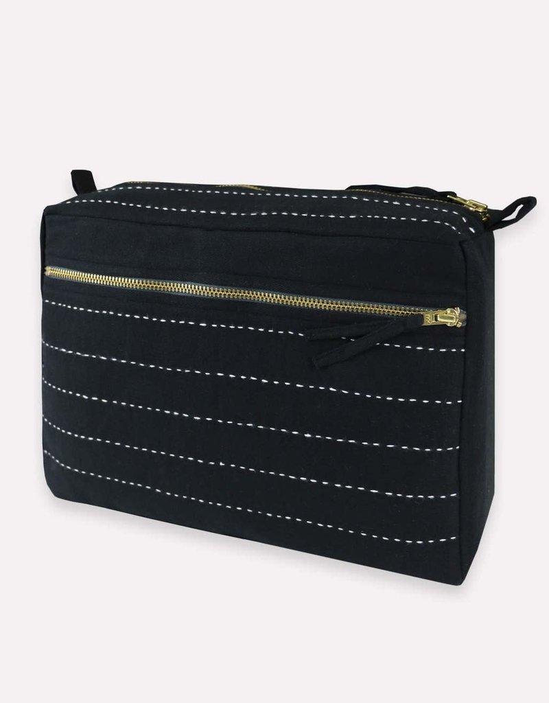 Large Pin-Stitch Toiletry Bag