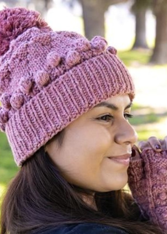 Andes Gifts Plain Pom Hat