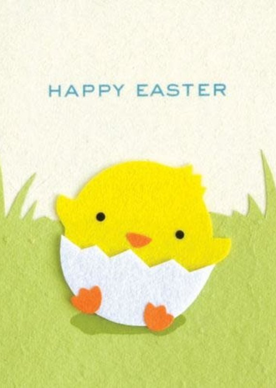 Good Paper Easter Chick Greeting Card