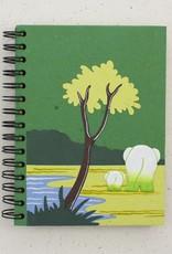 Mr. Ellie Pooh Elephants Dark Green Notebook