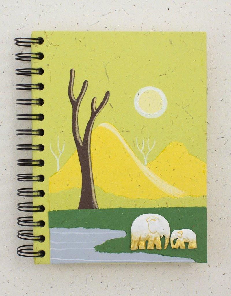 Mr. Ellie Pooh Elephants Light Green Notebook