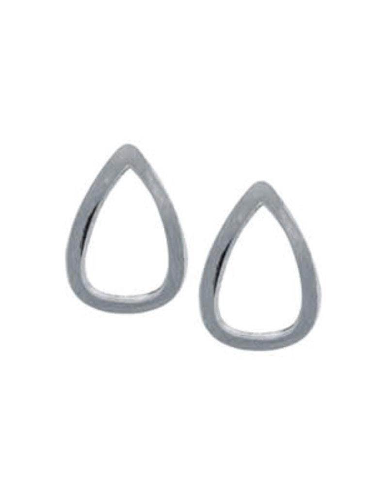 Far Fetched Emotive Stud Earrings Silver