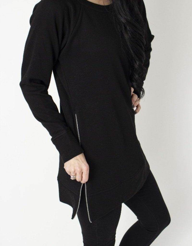 Black Zip Pullover