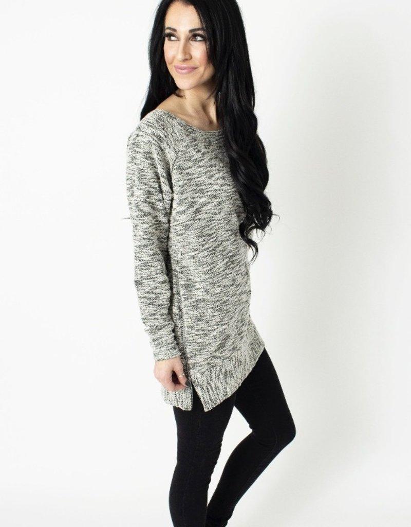 Speckle Zip Pullover