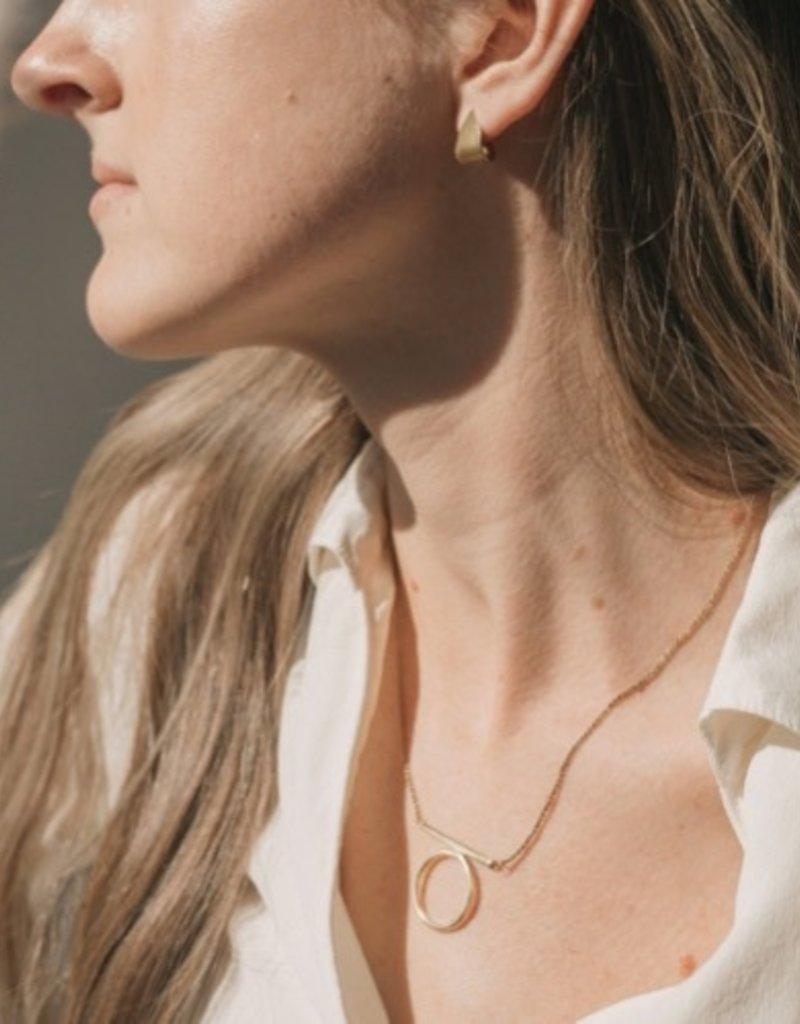 Moxie Necklace Brass