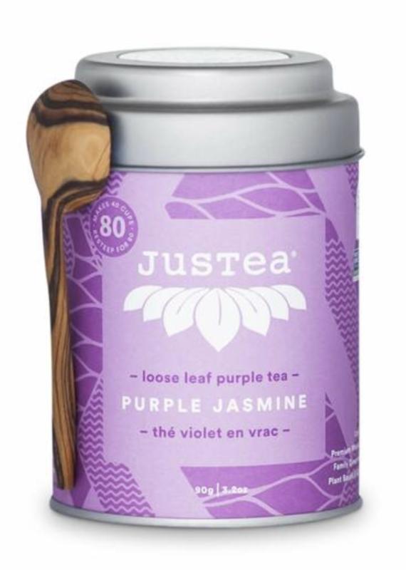 JusTea Purple Jasmine Loose Leaf Tea