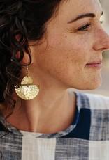 Crescent Brass Earrings