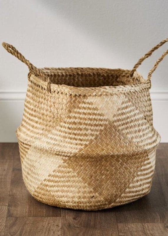 Serrv Checkered Seagrass Basket