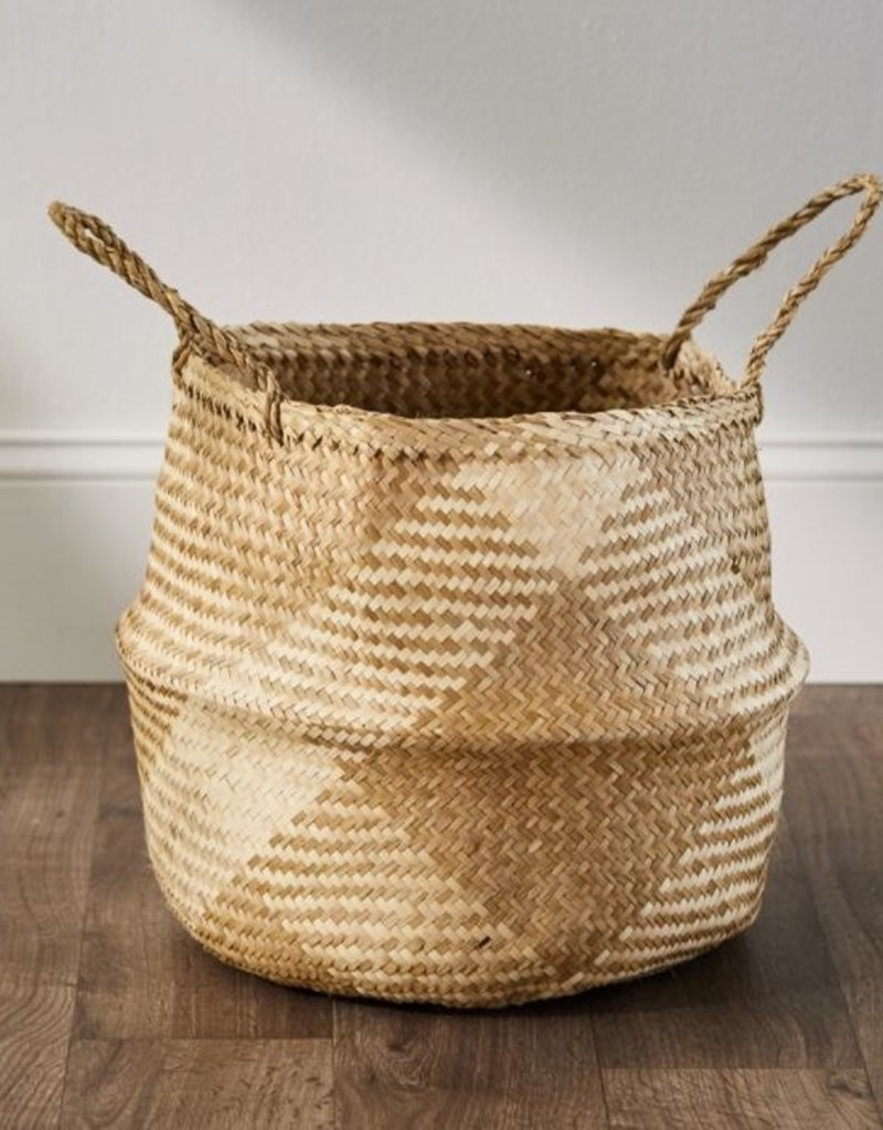 Checkered Seagrass Basket