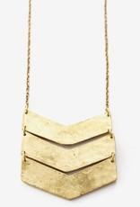 Chevron Gold Necklace